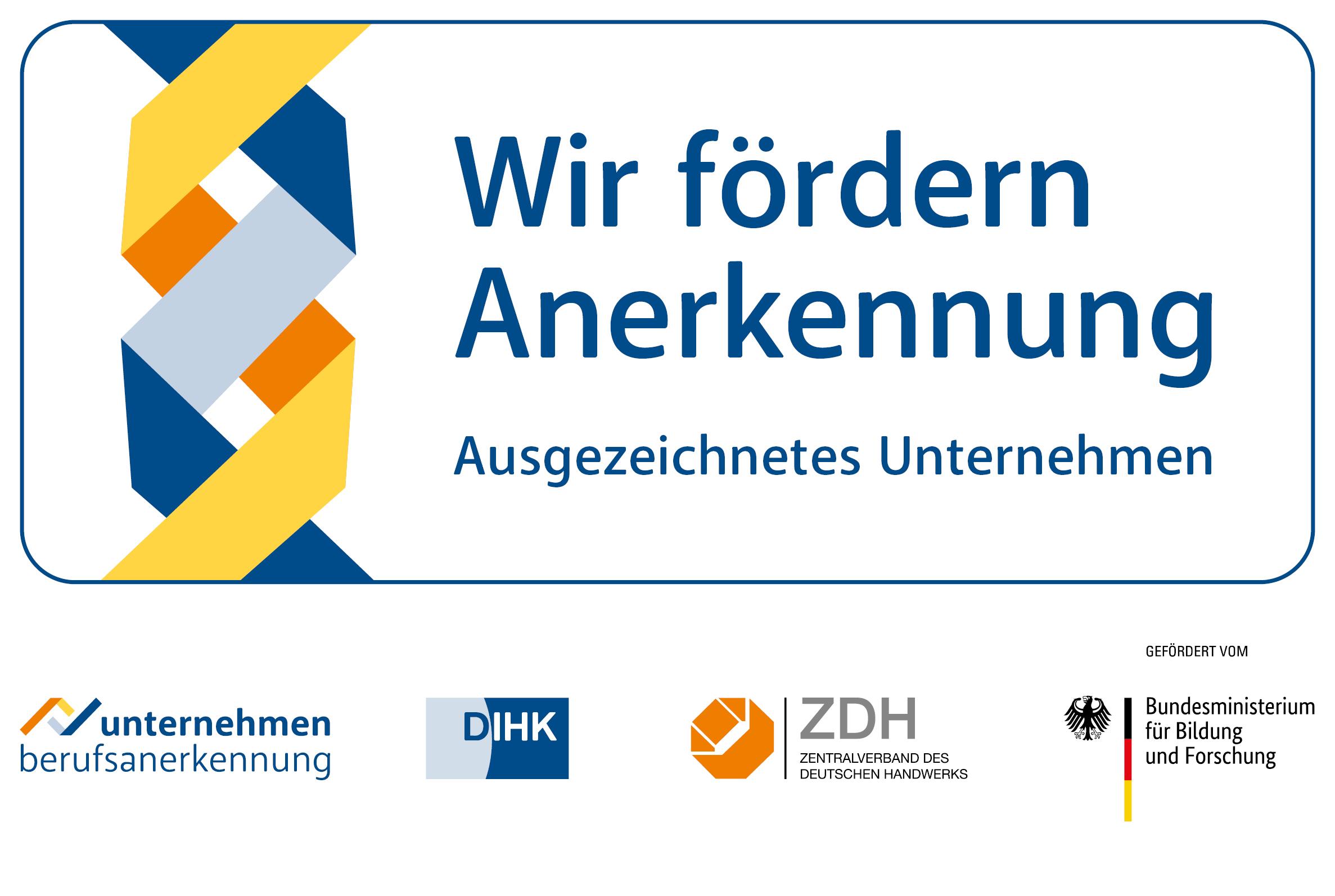 """Logo """"Wir fördern Anerkennung"""""""