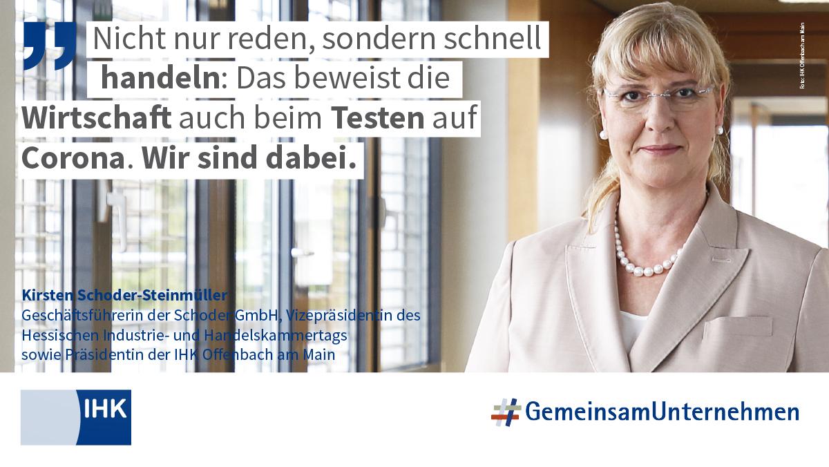 Kirsten Schoder-Steinmüllerr zu betrieblichen Tests
