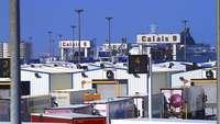 LKW-Schlage am Hafen von Calais