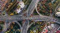 Autobahnkreuz Luftbild