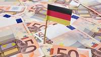 50 Euro Scheine Fahne