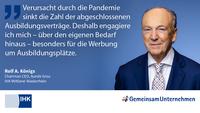 Ausbildungs-Statement von Ralf A. Königs, IHK Mittlerer Niederrhein