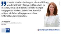 Ausbildungs-Statement von Jutta Metzler, IHK Pfalz