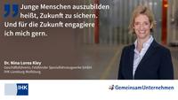 Ausbildungs-Statement von Dr. Nina Lorea Kley, IHK Lüneburg