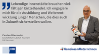 Ausbildungs-Statement von Carsten Obermeier, IHK Hannover