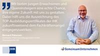 Ausbildungs-Statement von Bernard Petersen, Oldenburgische IHK