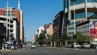 Straße in Simbabwes Hauptstadt Harare