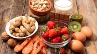 Nüsse, Früchte Milch und Eier: Lebensmittel mit Allergierisiko